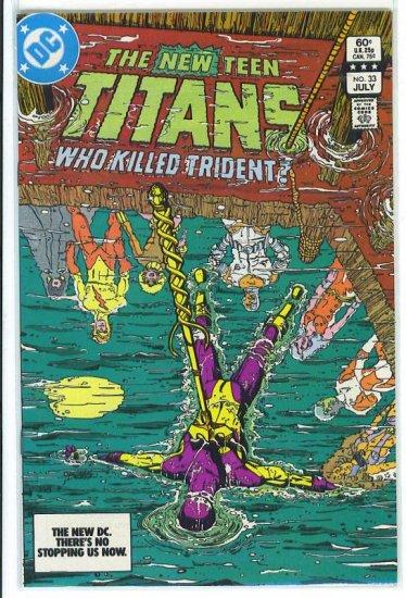 New Teen Titans # 33, 9.2 NM -