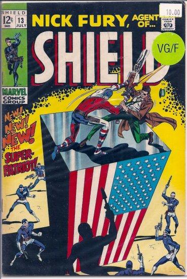 Nick Fury, Agent of SHIELD # 13, 5.0 VG/FN