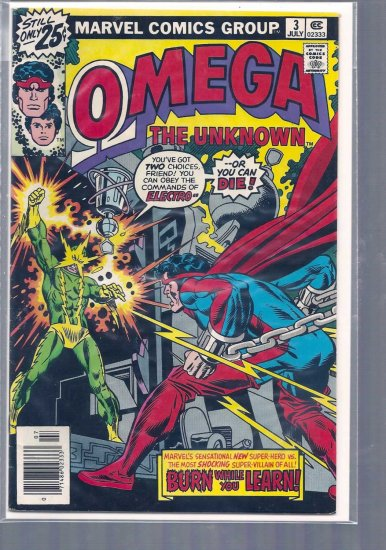 OMEGA THE UNKNOWN # 3, 4.0 VG