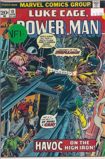 Power Man # 18, 7.5 VF -