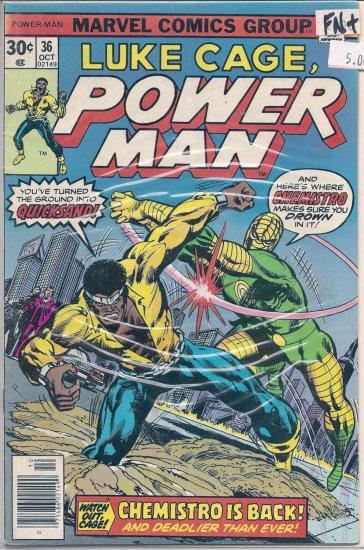 Power Man # 36, 6.5 FN +