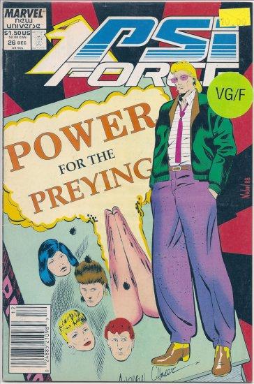 PSI Force # 26, 5.0 VG/FN