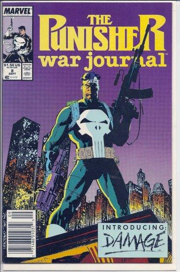 PUNISHER WAR JOURNAL # 8, 9.0 VF/NM