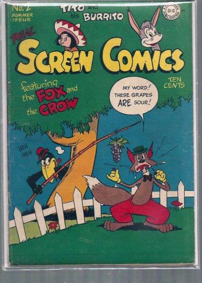 REAL SCREEN COMICS # 2, 4.0 VG