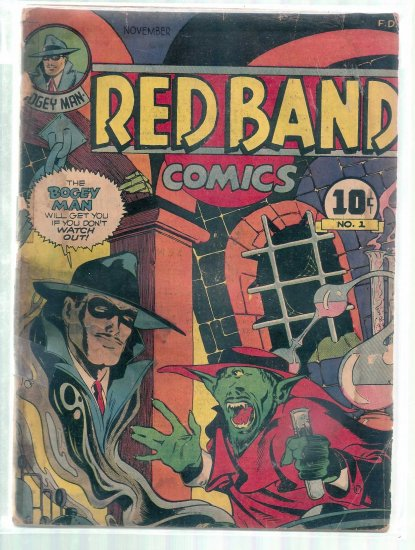 RED BAND COMICS # 1, 1.0 FR