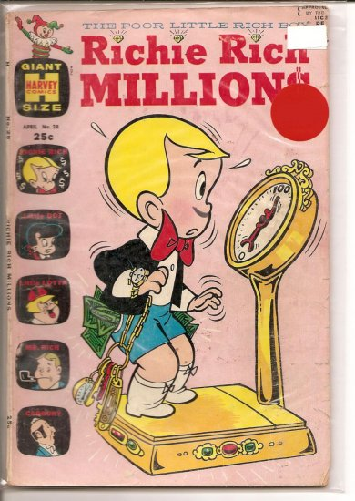 Richie Rich Millions # 28, 4.5 VG +