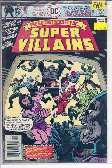 Secret Society of Super-Villains # 3, 6.5 FN +