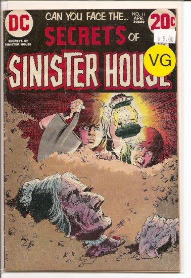 Secrets Of Sinister House # 11, 4.0 VG