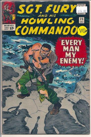 Sgt. Fury # 25, 4.5 VG +