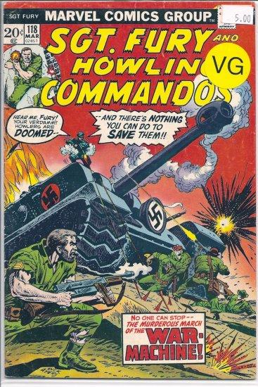 Sgt. Fury # 118, 4.0 VG