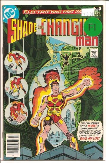 Shade, The Changing Man # 1, 6.0 FN