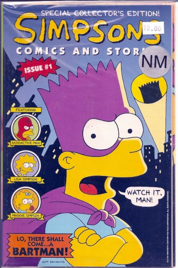 Simpsons Comics And Stories # 1, 9.4 NM
