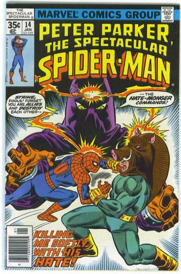 Spectacular Spider-Man # 14, 7.5 VF -