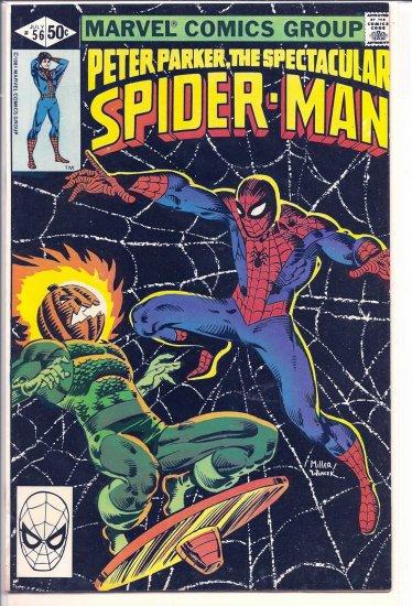 SPECTACULAR SPIDER-MAN # 56, 4.5 VG +