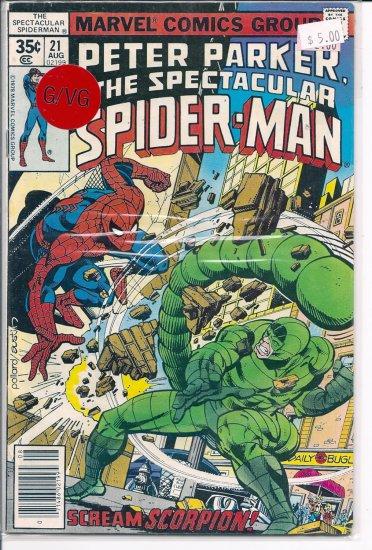 Spectacular Spider-Man, Peter Parker # 21, 3.0 GD/VG