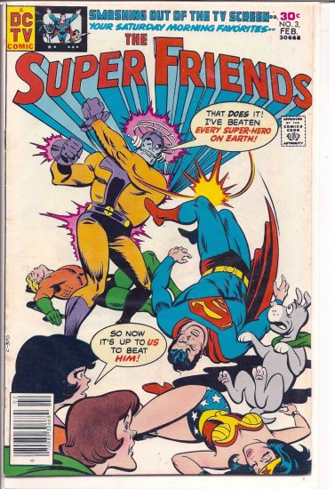 SUPER FRIENDS # 3, 4.5 VG +