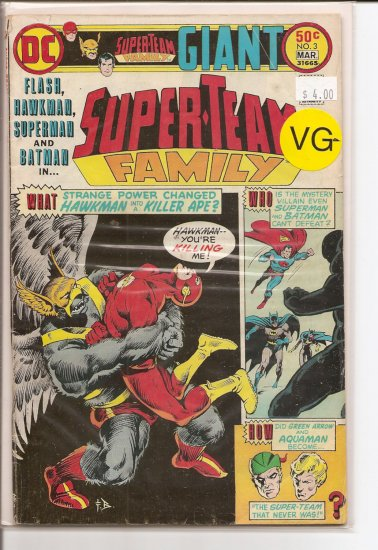 Super-Team Family # 3, 3.5 VG -