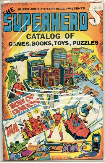 Superhero Catalog Games Books Toys Puzzles # 1, 3.0 GD/VG
