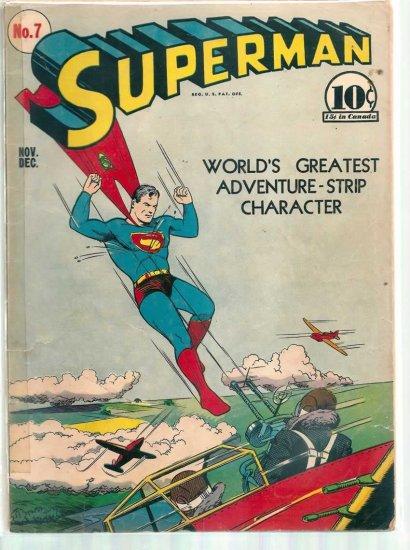 SUPERMAN # 7, 1.5 FR/GD