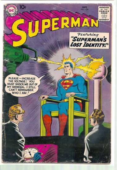 SUPERMAN # 126, 3.0 GD/VG