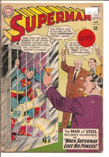 Superman # 160, 3.0 GD/VG