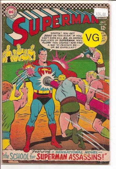 Superman # 188, 4.0 VG