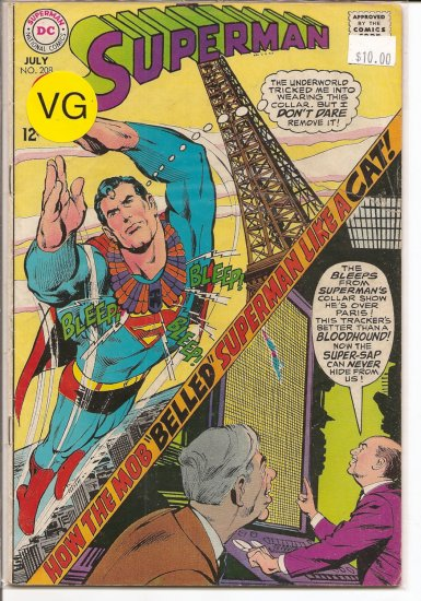 Superman # 208, 4.0 VG