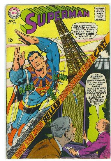 Superman # 208, 3.5 VG -
