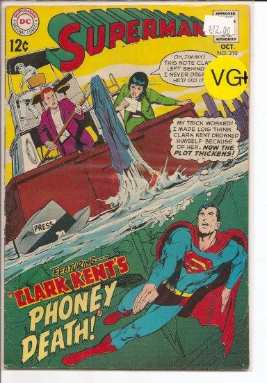 Superman # 210, 4.5 VG +