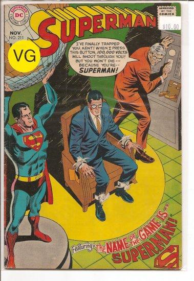 Superman # 211, 4.0 VG