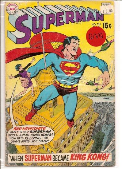 Superman # 226, 3.0 GD/VG