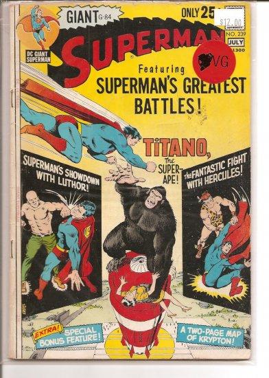 Superman # 239, 4.0 VG