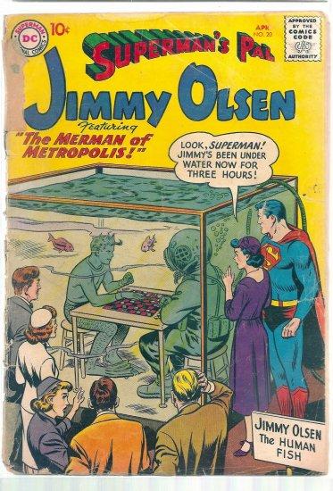 SUPERMAN'S PAL JIMMY OLSEN # 20, 0.5 PR
