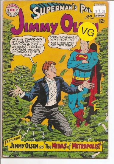 Superman's Pal Jimmy Olsen # 108, 4.0 VG