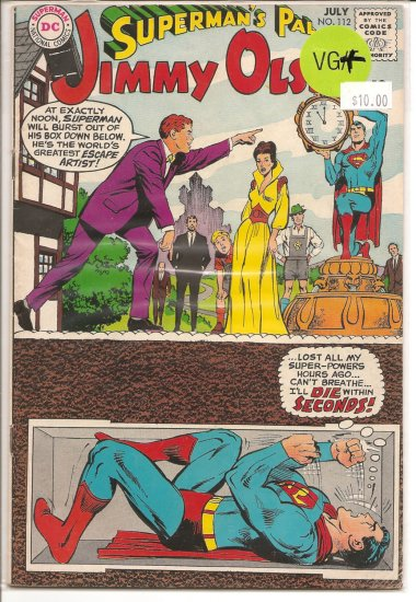 Superman's Pal Jimmy Olsen # 112, 4.5 VG +