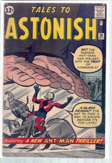 TALES TO ASTONISH # 36, 4.5 VG +