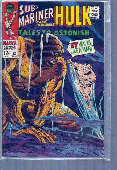 TALES TO ASTONISH # 92, 4.5 VG +