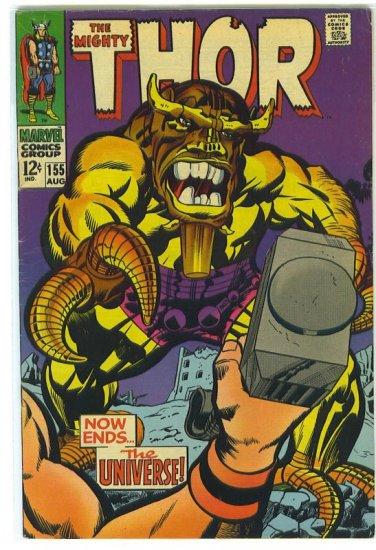 Thor # 155, 5.0 VG/FN