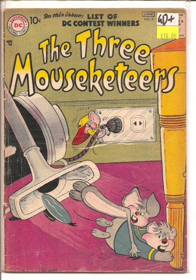 Three Mouseketeers # 8, 2.5 GD +