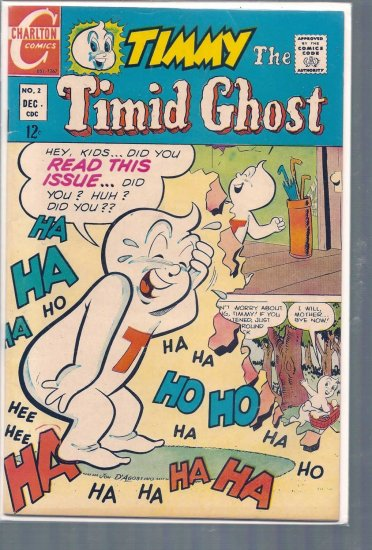 TIMMY THE TIMID GHOST # 2, 5.0 VG/FN
