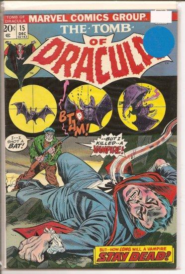 Tomb of Dracula # 15, 8.5 VF +