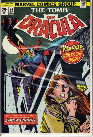 TOMB OF DRACULA # 26, 9.0 VF/NM