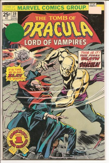 Tomb of Dracula # 39, 7.0 FN/VF