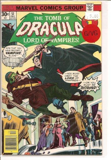 Tomb of Dracula # 51, 3.0 GD/VG