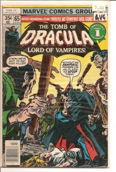 Tomb of Dracula # 65, 3.0 GD/VG