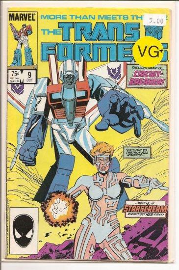 Transformers # 9, 4.5 VG +