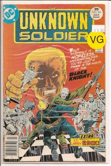 Unknown Soldier # 206, 4.0 VG