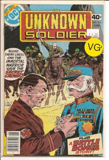 Unknown Soldier # 228, 4.5 VG +