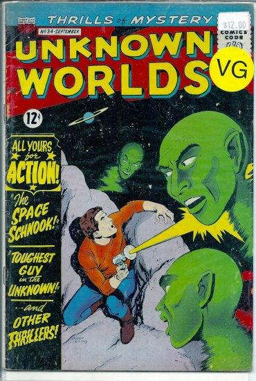 Unknown Worlds # 34, 4.0 VG