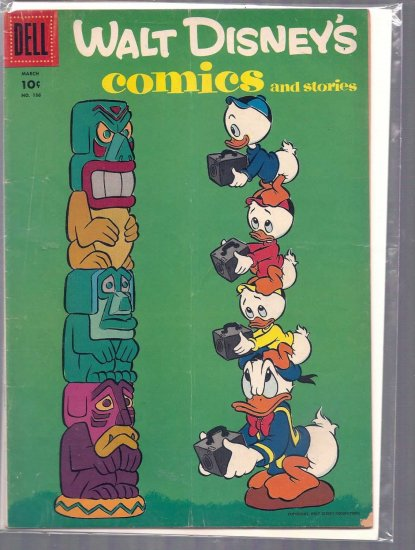 WALT DISNEY COMICS AND STORIES # 186, 4.0 VG